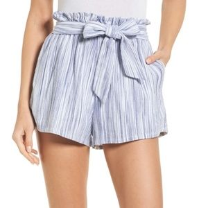 Amuse Society stripe paperbag waist shorts